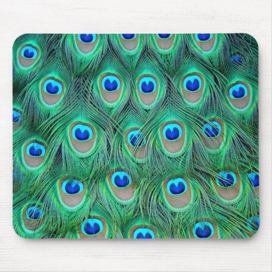 plumas del pavo real tapete de ratón