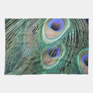 Plumas del pavo real toallas de mano