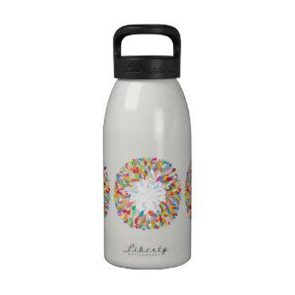 plumas efervescentes botella de agua reutilizable