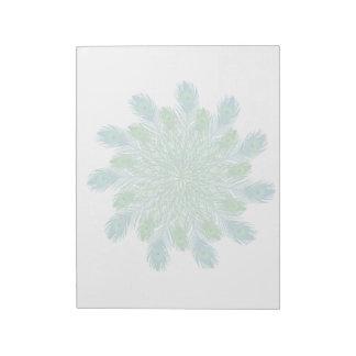 Plumas elegantes de moda del pavo real libreta para notas