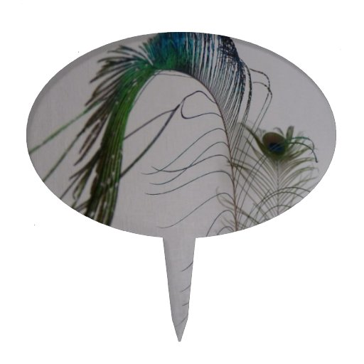 Plumas elegantes del pavo real de la bella arte de figura para tarta