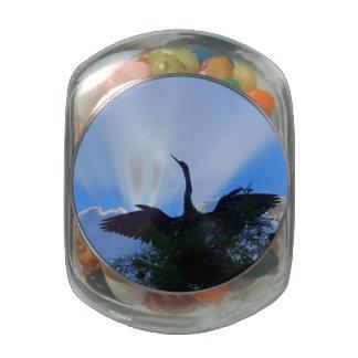 Plumas en las nubes frascos de cristal