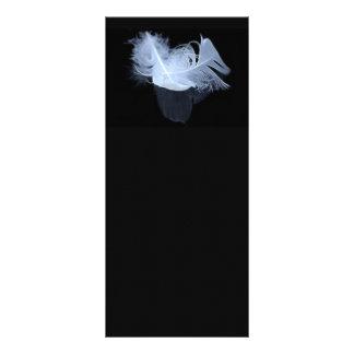 Plumas gemelas y reflexión de la llama lona personalizada