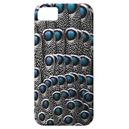 Plumas grises del pavo real iPhone 5 Case-Mate coberturas
