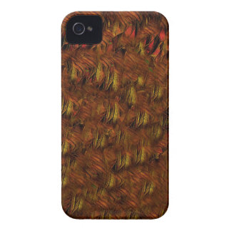 Plumas indias abstractas iPhone 4 carcasa