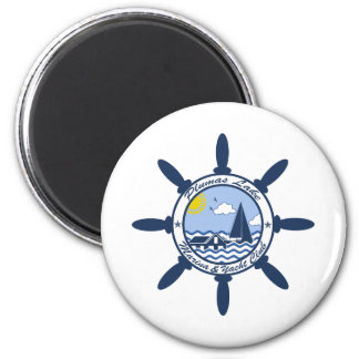 Plumas Lake 2 Inch Round Magnet
