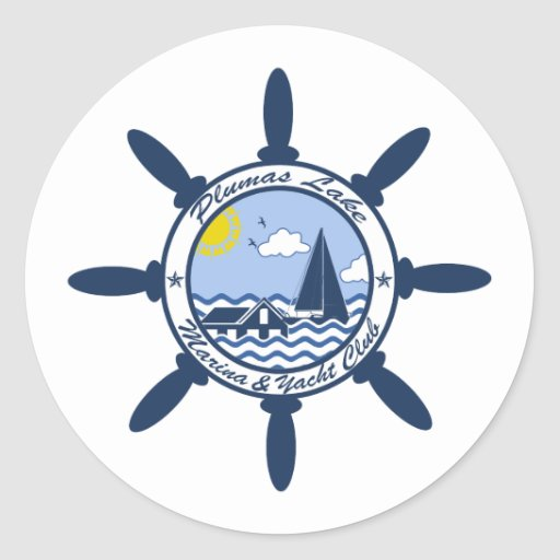 Plumas Lake Classic Round Sticker