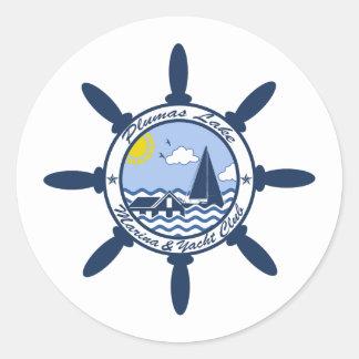 Plumas Lake Round Sticker