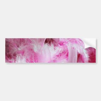 Plumas rosadas pegatina para coche