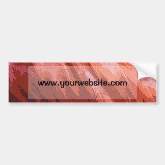 Plumas rosadas del flamenco etiqueta de parachoque
