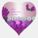 Plumas rosadas púrpuras del diamante del pegatina