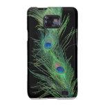 Plumas verdes con negro samsung galaxy s2 carcasas