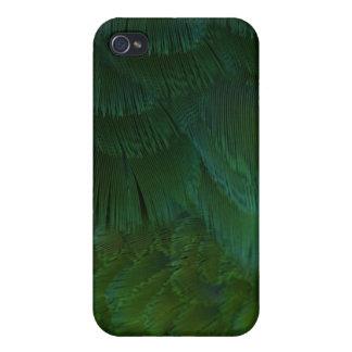 plumas verdes iPhone 4 cárcasas
