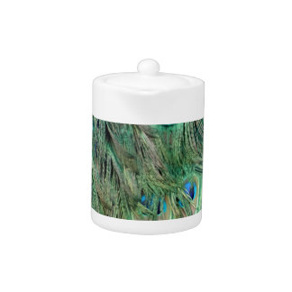 Plumas verdes y azules del Swag del pavo real