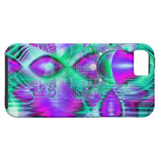 Plumas violetas del pavo real, menta cristalina ab iPhone 5 Case-Mate carcasas
