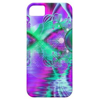 Plumas violetas del pavo real, menta cristalina iPhone 5 Case-Mate fundas