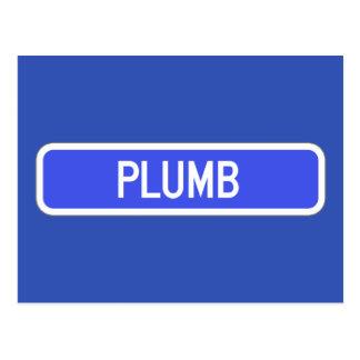 Plumb Avenue, Street Sign, Kansas, US Postcard