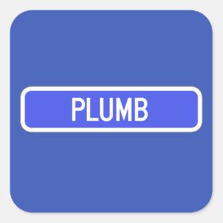 Plumb Avenue, Street Sign, Kansas, US Square Sticker
