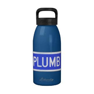 Plumb Avenue, Street Sign, Kansas, US Water Bottles