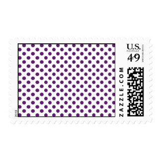 Plumb Purple polka dot Postage