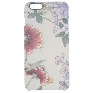 Plumbago and Gaillardia Flowers Japanese Fine Art Clear iPhone 6 Plus Case
