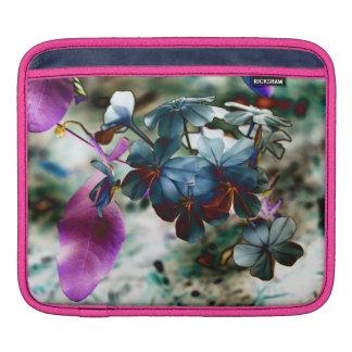 Plumbago Dusty Blue Flowers iPad Sleeves