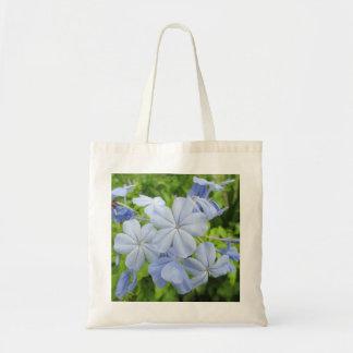Plumbago Flower Blue Tote Bags