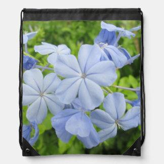 Plumbago Flower Blue Drawstring Backpack