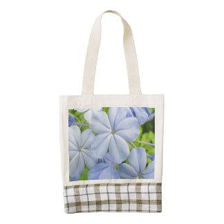 Plumbago Flower Blue Zazzle HEART Tote Bag