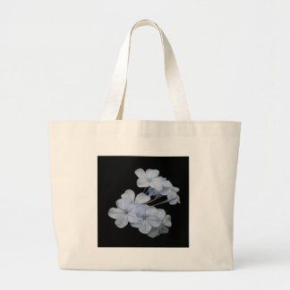 Plumbago Isolated on Black Background Canvas Bags