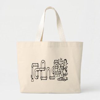 PLUMBER AND PIPES TOTE BAGS