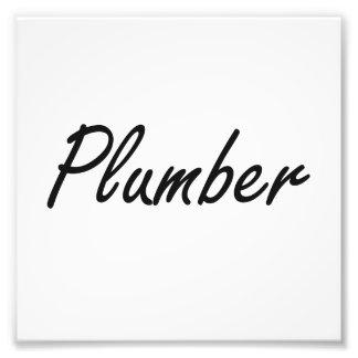 Plumber Artistic Job Design Photo Print