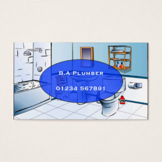 Plumber 'Bathroom Toon' Business Card