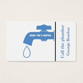 Plumber blue, white tap eye-catching plumbing business card