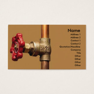 Plumber Business Card