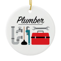 Plumber Ceramic Ornament