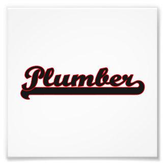 Plumber Classic Job Design Photo Print