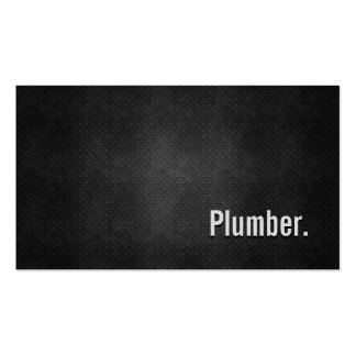 Plumber Cool Black Metal Simplicity Double-Sided Standard Business Cards (Pack Of 100)