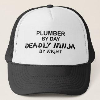 Plumber Deadly Ninja by Night Trucker Hat