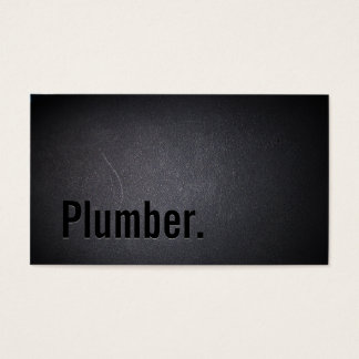 Plumber Elegant Dark Minimalist Business Card