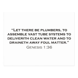 Plumber / Genesis Postcards