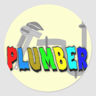 Plumber gifts classic round sticker