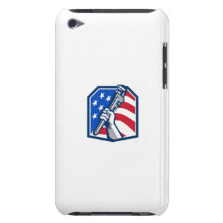 Plumber Hand Pipe Wrench USA Flag Retro Case-Mate iPod Touch Case