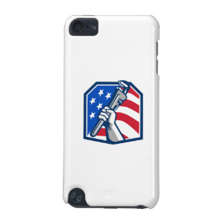 Plumber Hand Pipe Wrench USA Flag Retro iPod Touch (5th Generation) Case