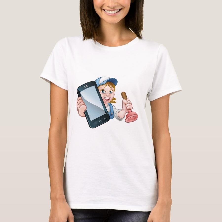 Plumber Handyman Phone Concept T-Shirt - Best Selling Long-Sleeve Street Fashion Shirt Designs