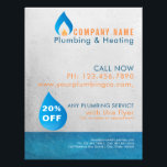 """Plumber heated water drop logo flyer<br><div class=""""desc"""">Plumber business advertising flyer template for residential or commercial plumbing and heating company - The design features a water drop perfect for a plumbing and heating company. This flyer ad will stand out and draw potential customers to your plumbing and heating company! Customize the text to personalize it on both...</div>"""
