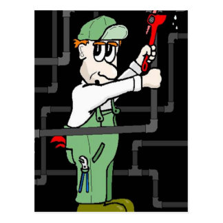 plumber helper postcard