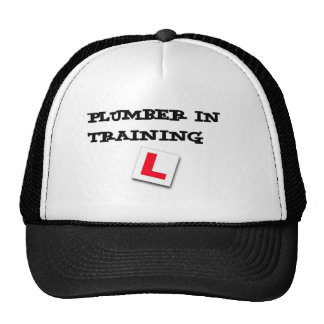 plumber in training hats