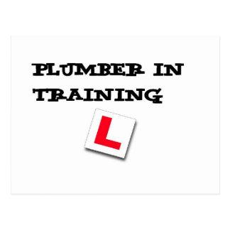 plumber in training postcard