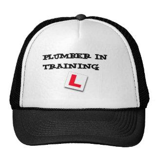 plumber in training trucker hat